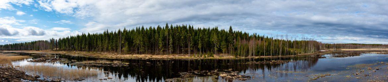 Karttula; Keihäsjärvi 4.5.2020; panoraama; Kuva: Aarne Hagman